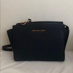 Michael Kors Navy Crossbody Bag